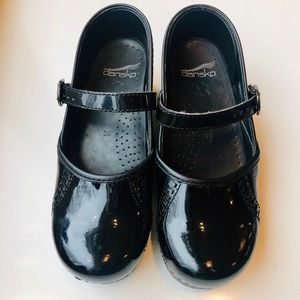 Dansko Black Mary Jane Clogs.